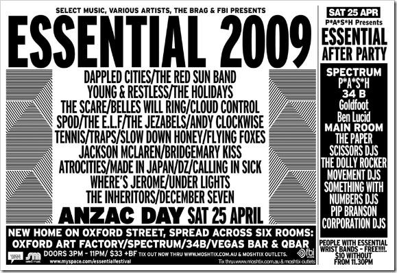 Essential Festival 09